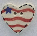 86180 - Large Heart With Star & Flag 5/8in x 5/8in - 1 per pkg